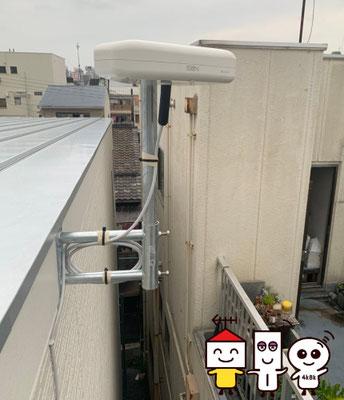 地デジコンパクトアンテナ工事 (大阪市城東区)②
