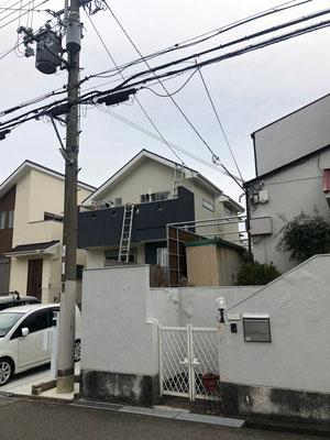 堺市南区 地デジコンパクトBSCS4K8Kアンテナ取付設置工事④