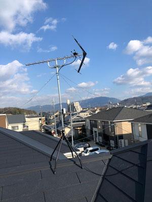 大阪府河内長野市 地デジヤギ式アンテナ取付設置工事
