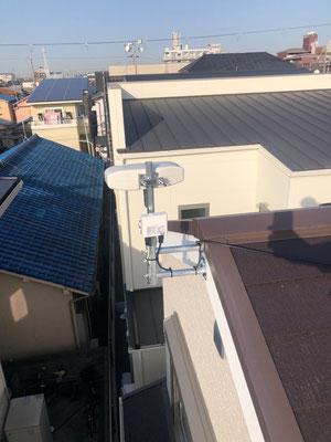 岸和田市 地デジコンパクトアンテナ取付設置工事