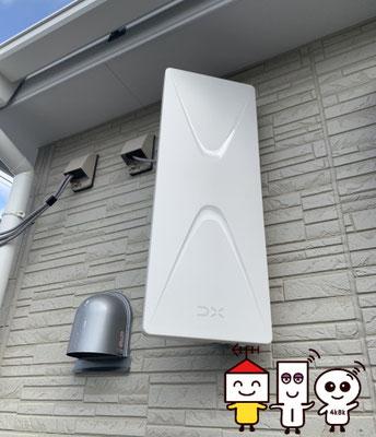 新築に地デジデザインアンテナ工事(堺市北区野遠町)③