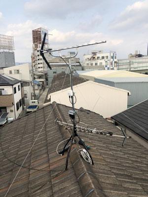 豊中市 地デジヤギ式アンテナ交換取付設置工事