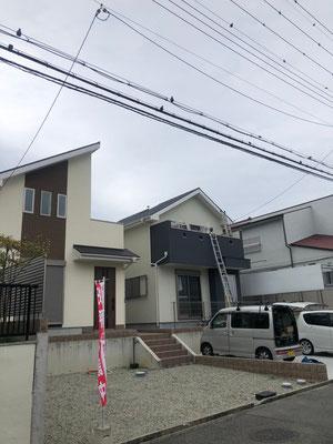 堺市南区 地デジコンパクトBSCS4K8Kアンテナ取付設置工事②
