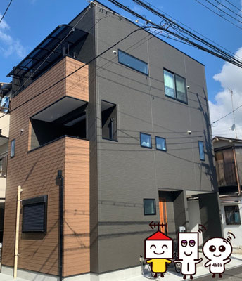 地デジデザインアンテナ工事ブラック(大阪府枚方市)