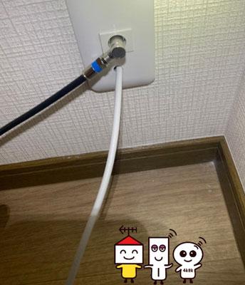 BSCS4K8Kアンテナダイレクト配線工事(大阪市東住吉区)⑤