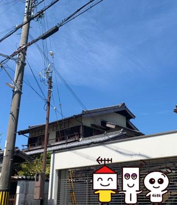 自営柱(スッキリポール)に地デジコンパクトアンテナとBSCS4K8Kアンテナ工事(奈良県奈良市)④
