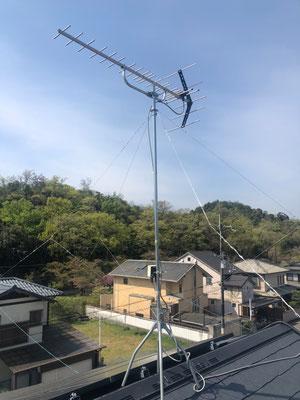 京都府左京区 BSCS4K8Kアンテナ追加取付設置工事③