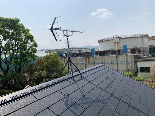 枚方市 地デジヤギ式アンテナ取付設置工事