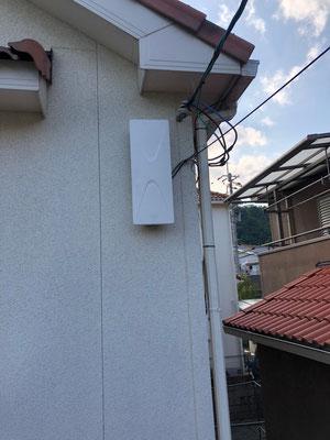 大阪府島本町 地デジデザインアンテナ取付設置工事