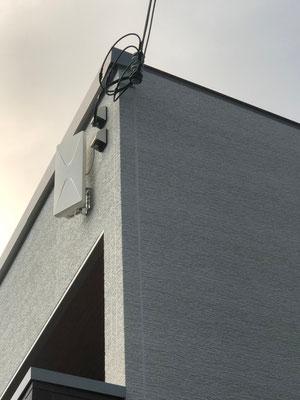 奈良県生駒市 地デジデザインアンテナ取付設置工事