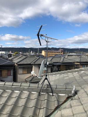 奈良県生駒郡 地デジヤギ式BSCS4K8Kアンテナ取付設置工事