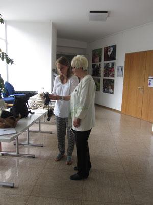 Journalistinnen unter sich: Katja Schuricht und Christel WösnerRafael