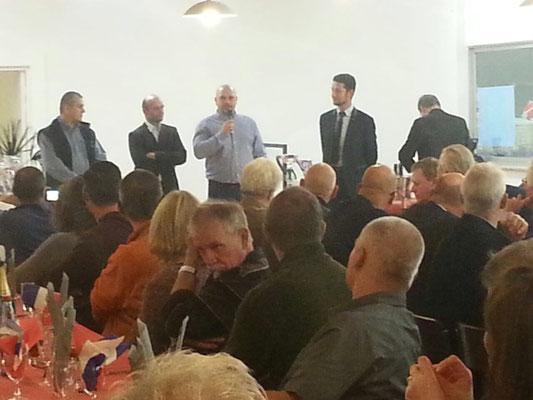 Die Präsidenten des Französischen Mövchen Clubs, des deutschen SV, des Belgischen Mövchenclubs und des EMC