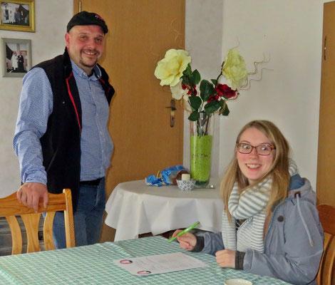 Neumitglied Melanie mit Dr. Martin Linde