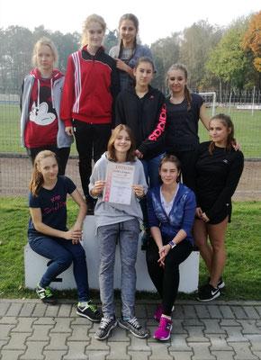 U góry od lewej: Angelika Łabas, Magdalena Skolarz, Ilona Porębska, Kaja Sołek, Wioleta Bierońska. U dołu od lewej: Anna Biegun, Milena Studencka, Klaudia Chwaja, Klaudia Błachut.