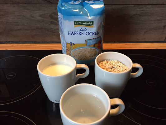 Porridge Rezept zum Fruehstueck mit Kiwi-Vanille | 200 Kalorien