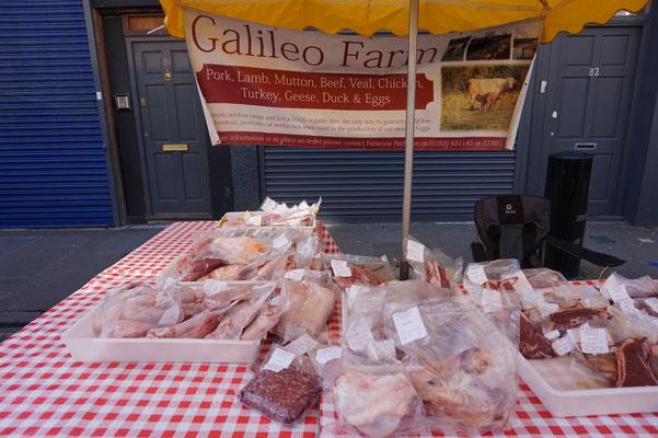 Farmers Market in London   ein Wochenmarkt in London
