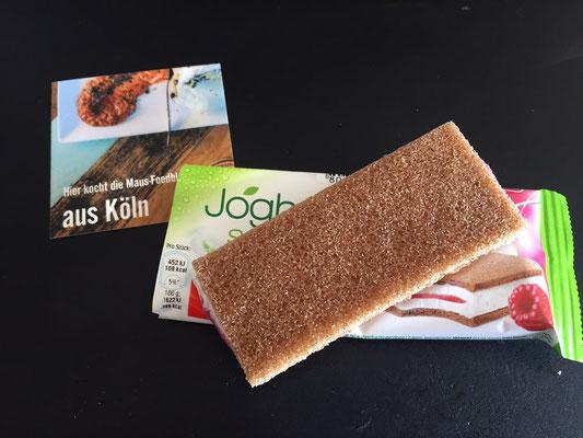 Spoiler Joghurt-Schnitte Himbeere | Milchschnitte 2017