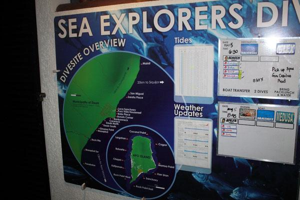 dive details, sea explorers