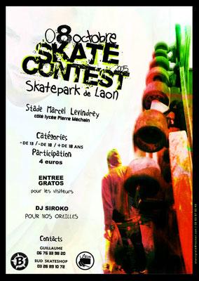 Affiche compétition de skateboard
