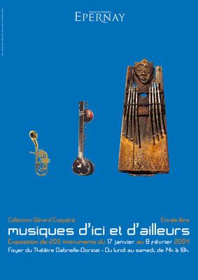 Affiche Exposition Instruments de musique