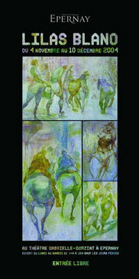 Carton d'invitaion à l'exposition de Lilas Blano