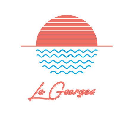 Le Georges - RoofTop - Rives d'Or Hotel - La seyne sur Mer - Création Logo