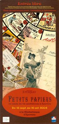 Affiche exposition  d'archives papiers de la Ville d'Epernay