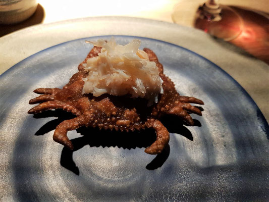 Brown Crab on Flatbread
