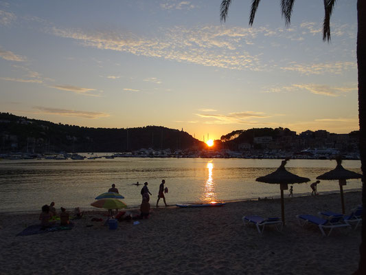 Sunset at Port de Soller Mallorca - Spain