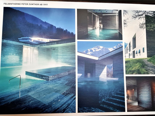 The building of the Vals Therme