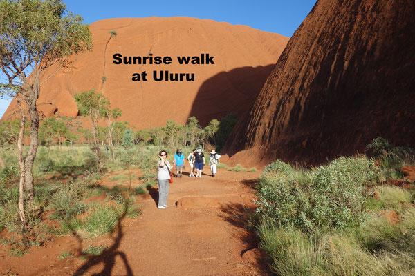 Sunrise walk Uluru