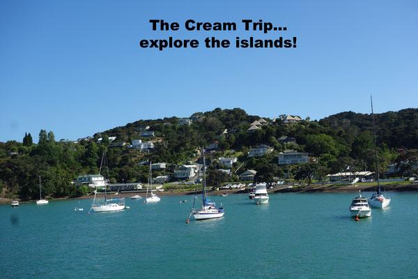 Cream Trip Boat Bay of Islands New Zealand