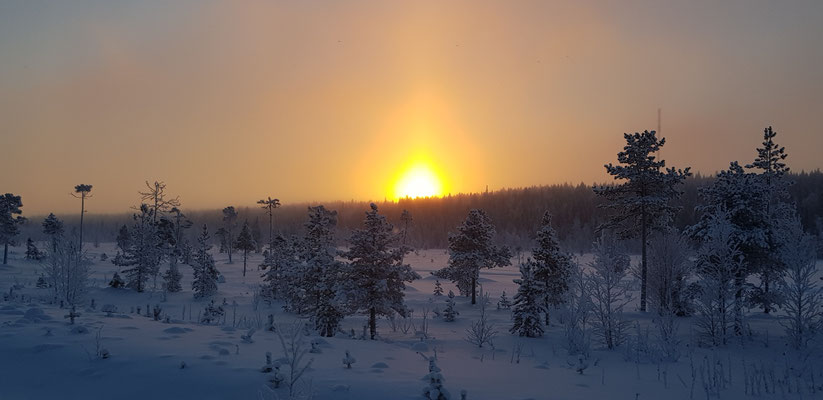 Sunset over Lappland