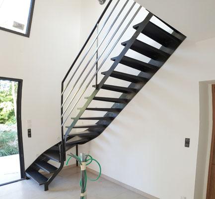 Escalier tout metal stylisé sur mesure Toulouse