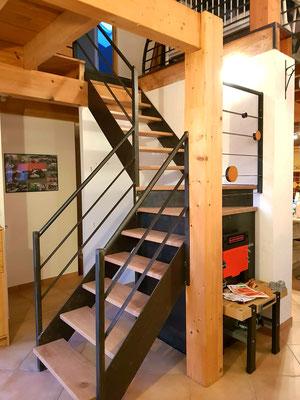 Escalier demi paliers