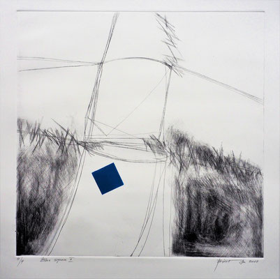 Blue square II 75x75