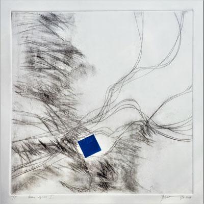 Blue square I 75x75