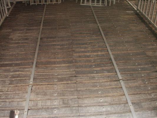Spaltenboden nach der Reinigung