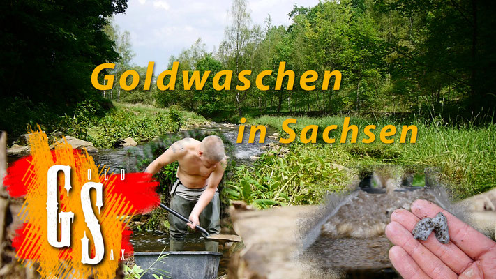 Goldwaschen in Sachsen