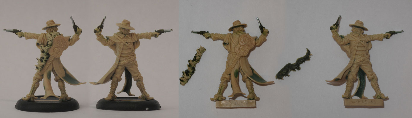 """Fimo sculpture for Wyrd miniatures """"Johnny Cash"""""""