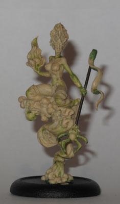 FIMO Sculpture for CoolMiniOrNot dark elf witch
