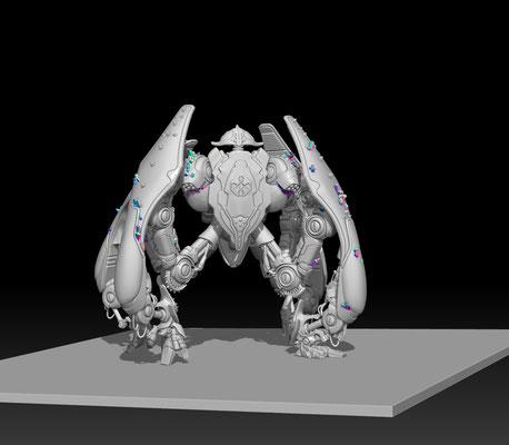 3D modelling- DARK AGE -Tsuedo