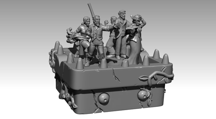 3d modelling - 7th CONTINENT - Barge