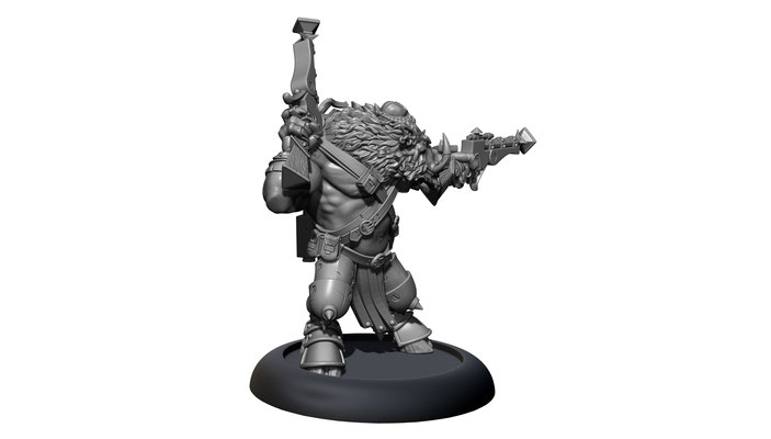 3d modelling - PRIVATEER PRESS - Farrow Warlord