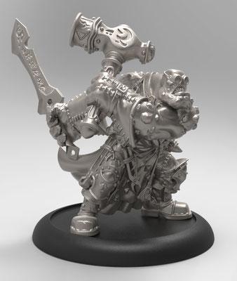 Horgle ironstrike figurine 3d modelling for Privateer Press- zbrush 3d print
