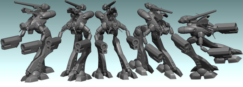 3d modelling - ROBOTECH RPG - Zentraedi Glaug