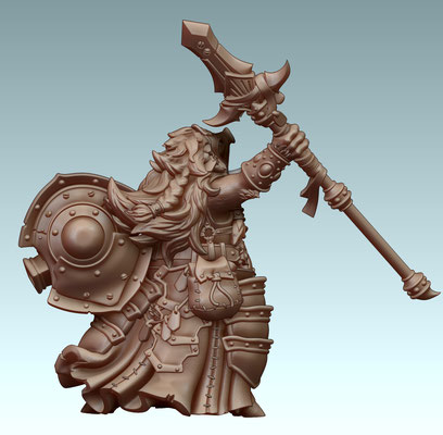Figurine 3d Modelling for Privateer Press - zbrush 3d print