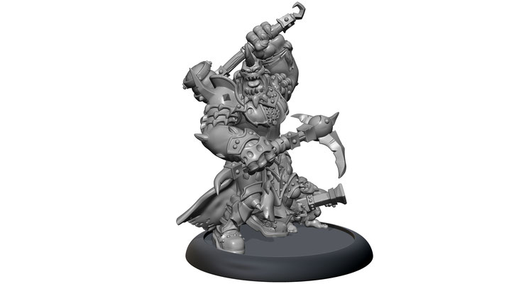 3d modelling - PRIVATEER PRESS - Jussika Bloodtongue