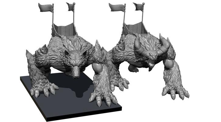 3d modelling - SHIELDWOLF - Werewolf head